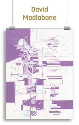 Purple and white abstract artwork